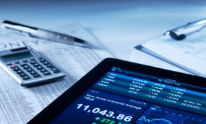 Aktienkurse auf Tablet